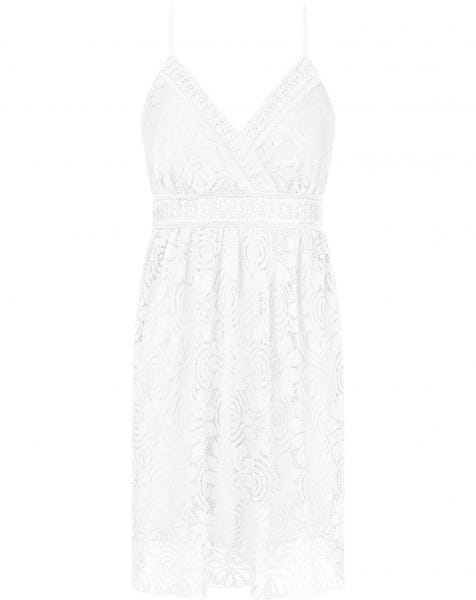 ALENA LACE DRESS WHITE