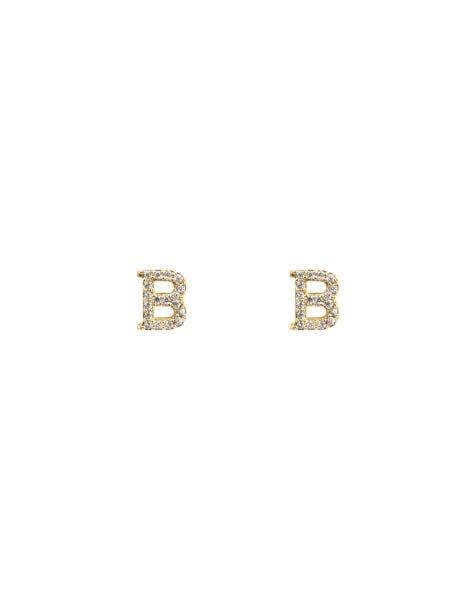 SPARKLING B EARRINGS GOLD