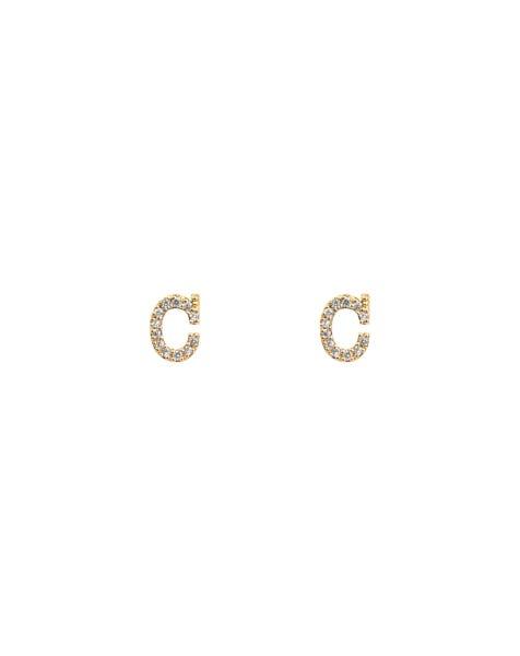 SPARKLING C EARRINGS GOLD