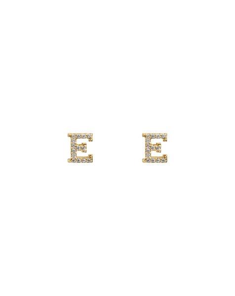 SPARKLING E EARRINGS GOLD