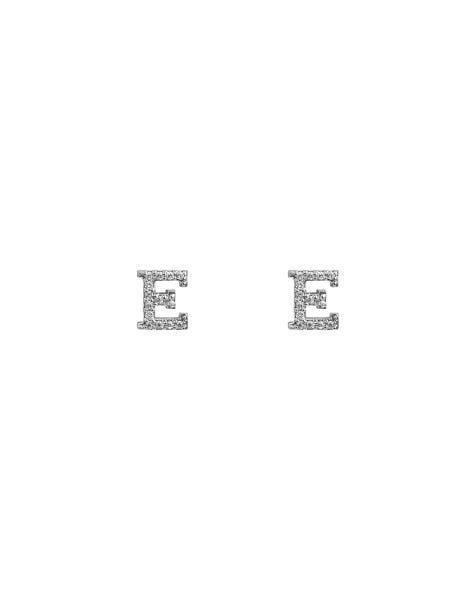 SPARKLING E EARRINGS SILVER