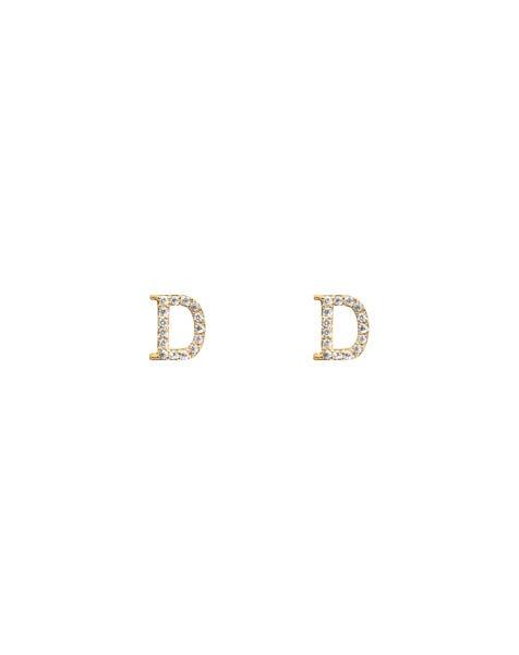 SPARKLING D EARRINGS GOLD