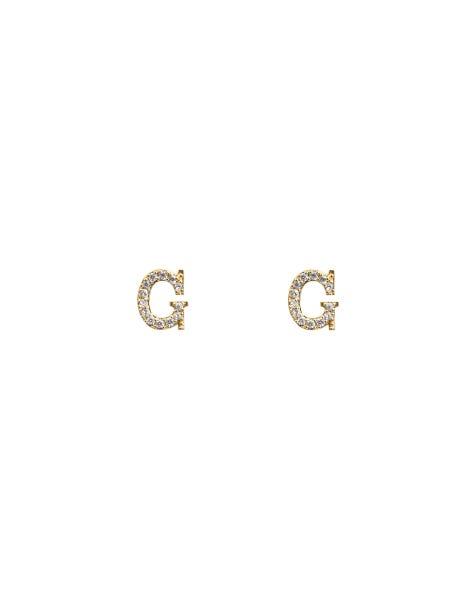 SPARKLING G EARRINGS GOLD