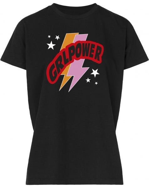 GIRLPOWER TEE BLACK