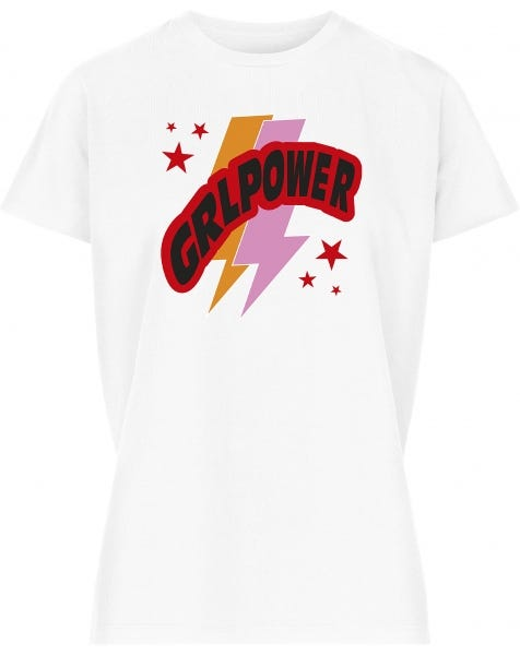 GIRLPOWER TEE WHITE