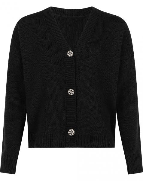 OLIVIA KNIT CARDIGAN BLACK