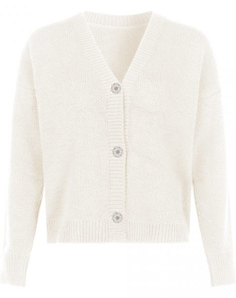 OLIVIA KNIT CARDIGAN CREAM
