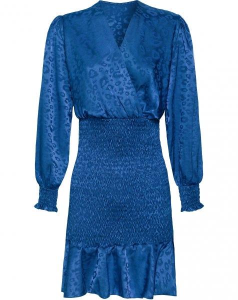 NAILA JACQUARD DRESS BLUE