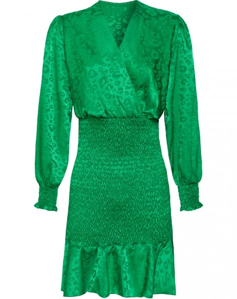 NAILA JACQUARD DRESS GREEN