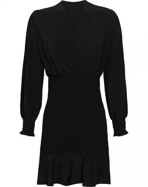 NAILA PLAIN DRESS BLACK