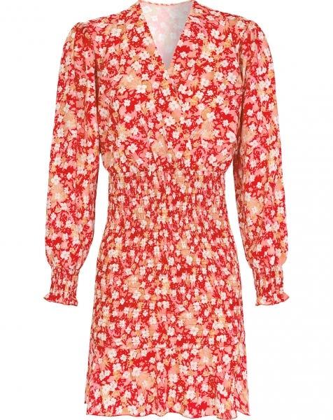 NAILA FLOWER DRESS RED