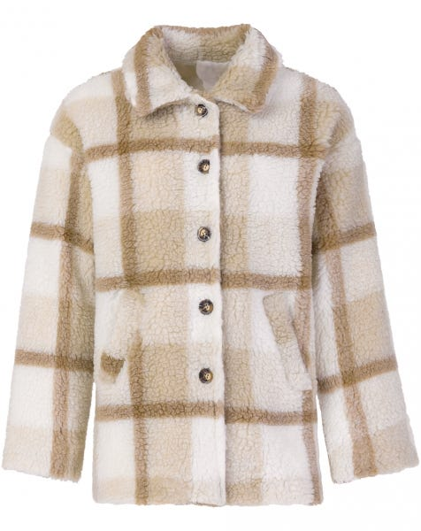 TEDDY CHECK JACKET BEIGE