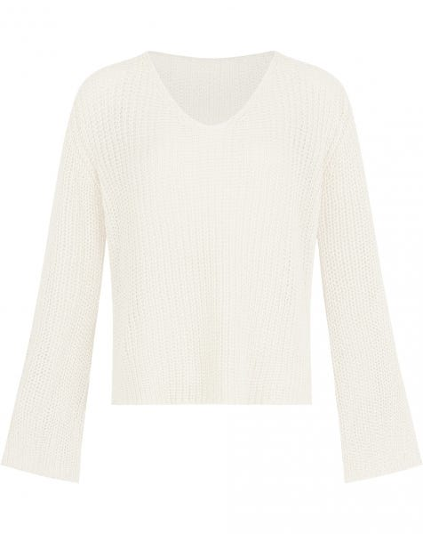 FLARED SLEEVE KNIT CREAM