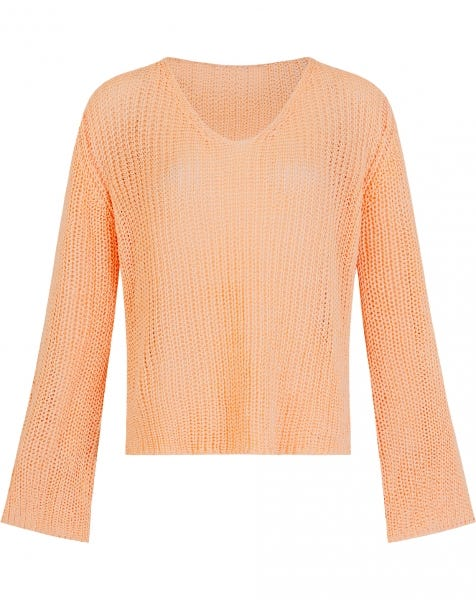 FLARED SLEEVE KNIT ORANGE