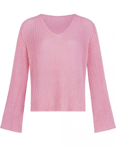 FLARED SLEEVE KNIT PINK