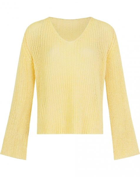 FLARED SLEEVE KNIT YELLOW