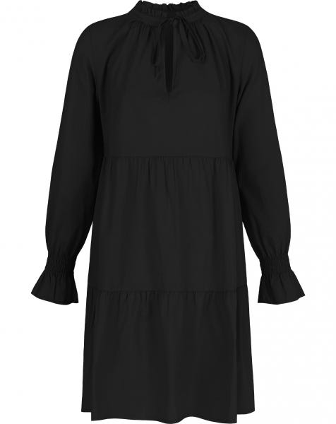 POPLIN TRAPEZE DRESS BLACK