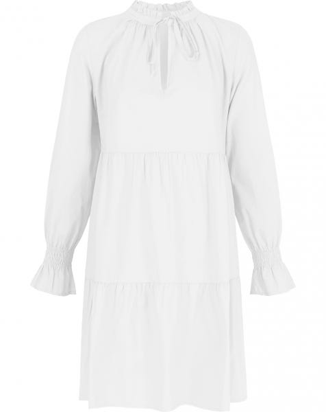 POPLIN TRAPEZE DRESS WHITE