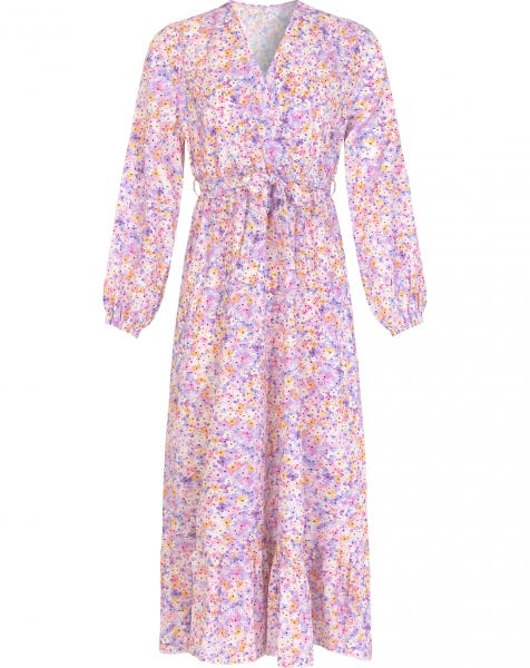 OLIVIA FLOWER DRESS LILA