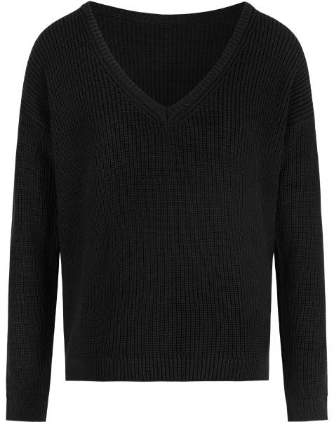 DEEP V KNIT BLACK