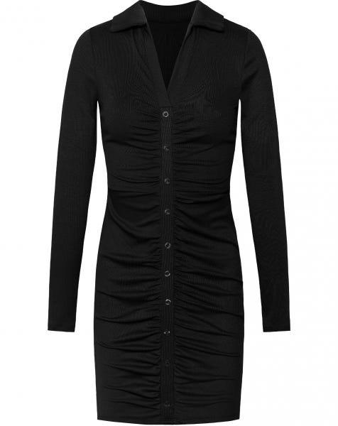 FAYE RIBBED DRESS BLACK