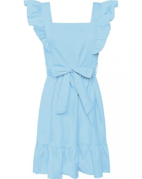 MILEY POPLIN DRESS LIGHT BLUE
