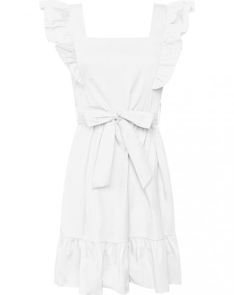 MILEY POPLIN DRESS WHITE