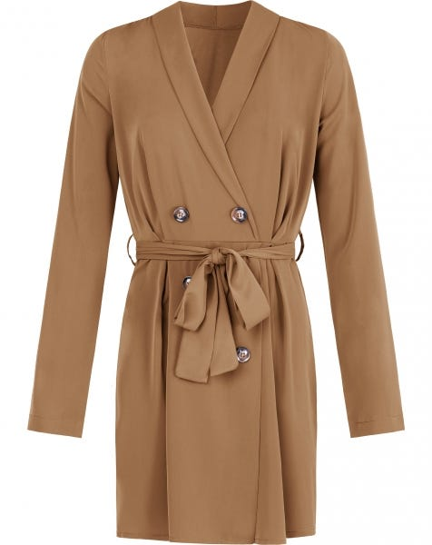 LISS BLAZER DRESS CAMEL