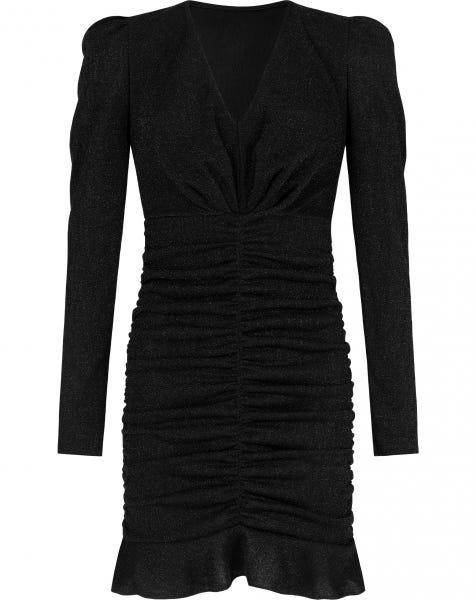 MILEY GLITTER DRESS BLACK