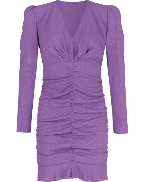 MILEY RIBBED DRESS LILA