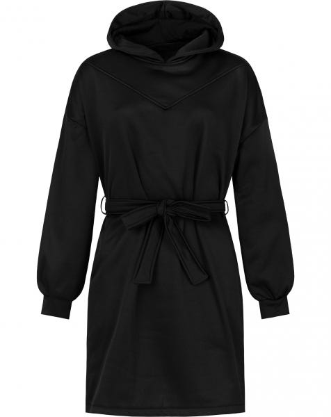 GINI HOODIE DRESS BLACK