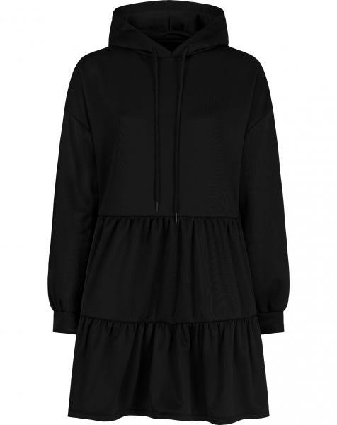 AVA HOODIE DRESS BLACK