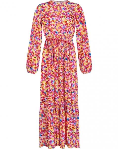 GIGI FLOWERS MAXI DRESS PINK