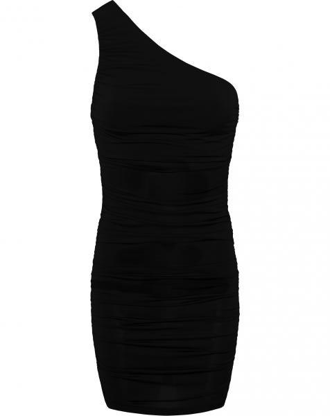 DOLCE ONE SHOULDER DRESS BLACK
