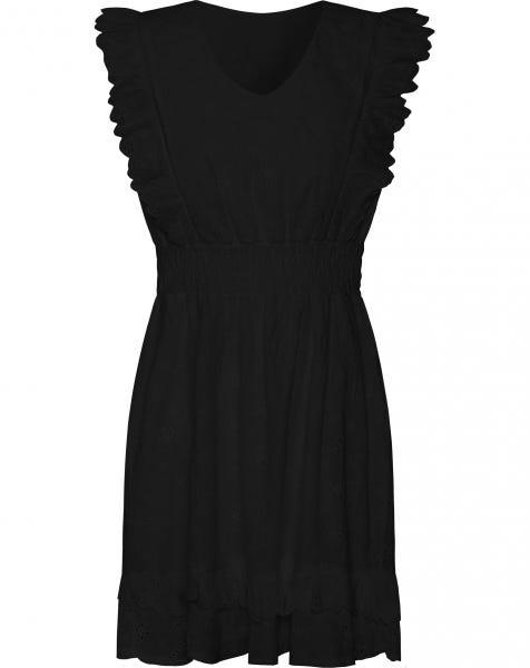 XENIA BRODERIE DRESS BLACK