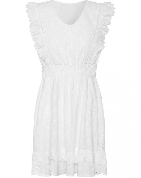 XENIA BRODERIE DRESS WHITE
