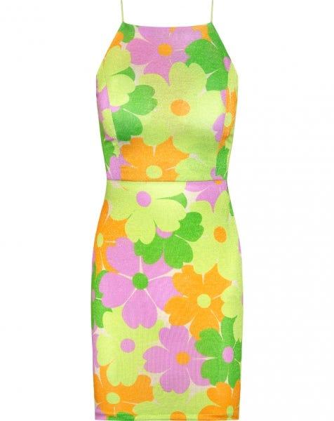 MIMI FLOWER DRESS GREEN