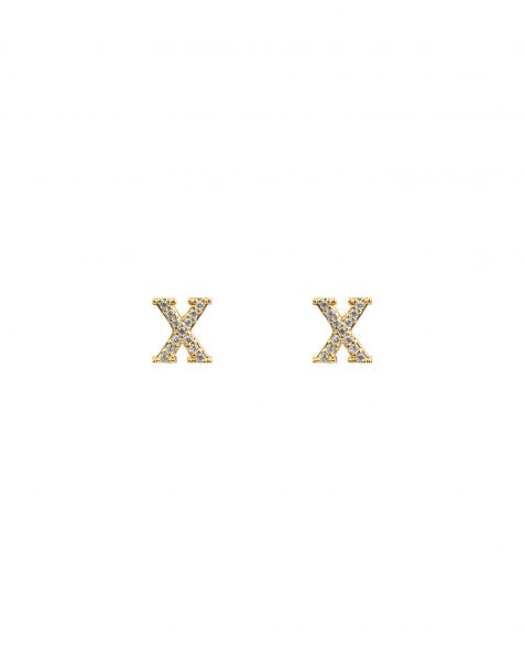 SPARKLING X EARRINGS GOLD