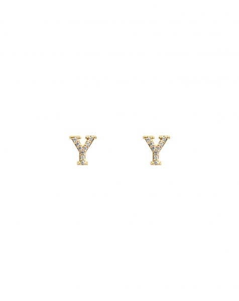 SPARKLING Y EARRINGS GOLD