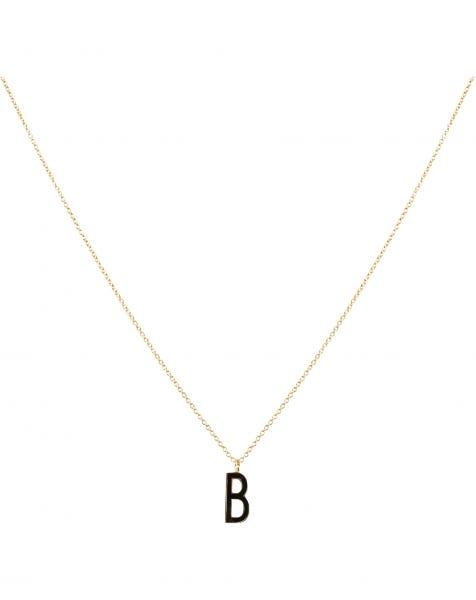 B NECKLACE BLACK GOLD