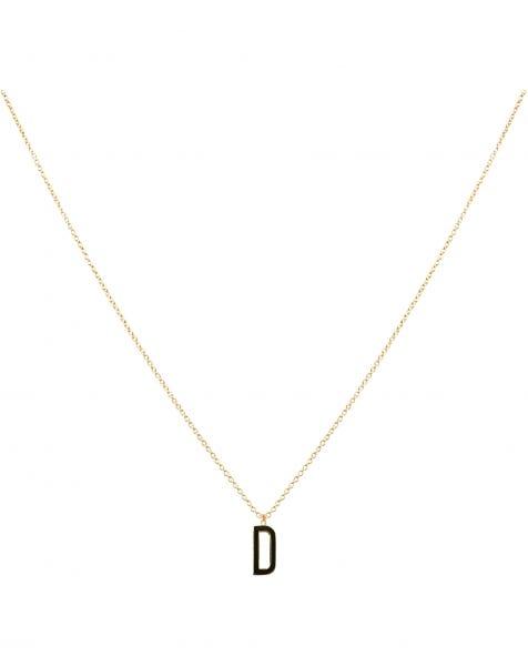 D NECKLACE BLACK GOLD