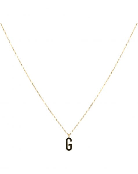 G NECKLACE BLACK GOLD