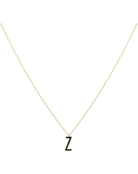 Z NECKLACE BLACK GOLD