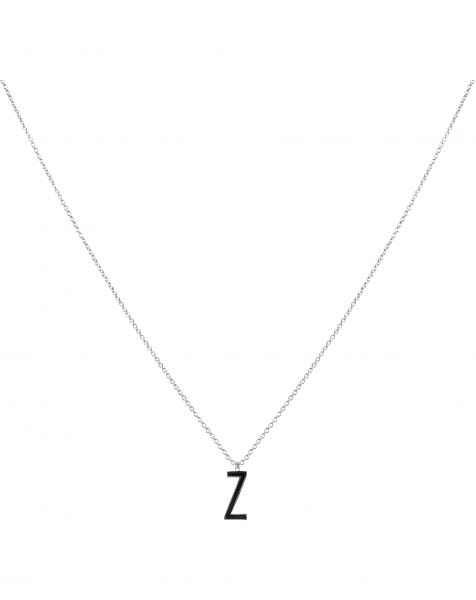 Z NECKLACE BLACK SILVER