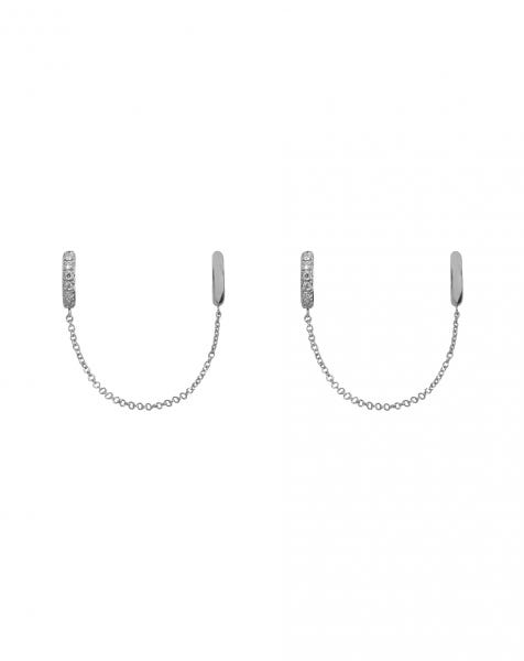 LET ME CUFF YOU EARRINGS SILVER