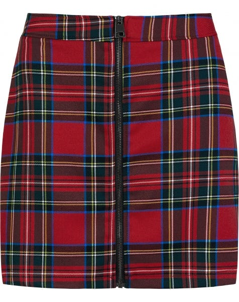 CHRISSY CHECK SKIRT