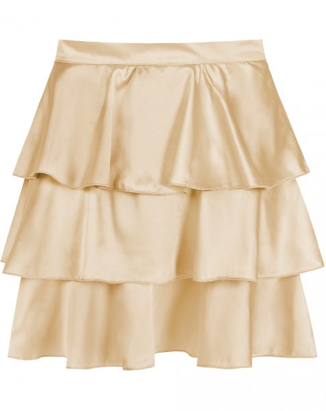 STELLA SATIN SKIRT BEIGE