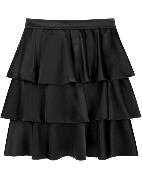 STELLA SATIN SKIRT BLACK