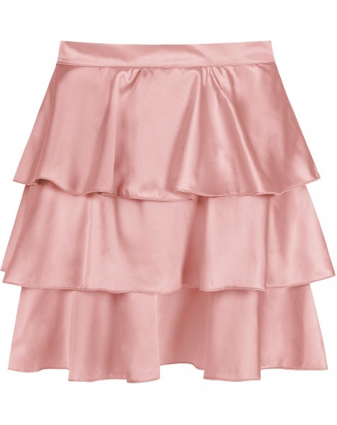 STELLA SATIN SKIRT DUSTY ROSE