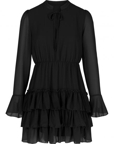 ELLE DRESS PLAIN BLACK
